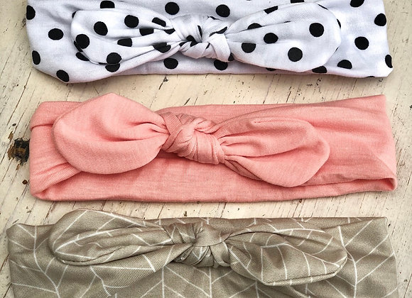 Polka dot headband set