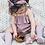 Thumbnail: Open knit bow socks (blush or latte)