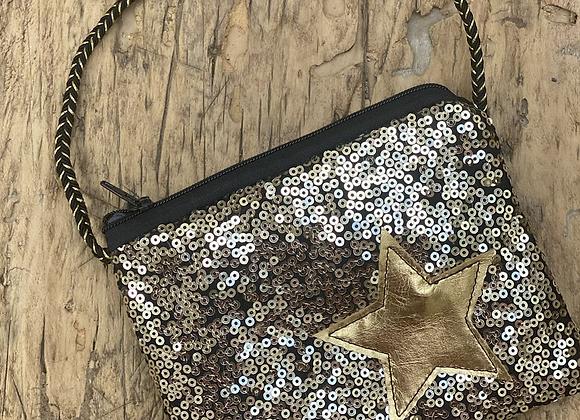 Star sequin bag (black)
