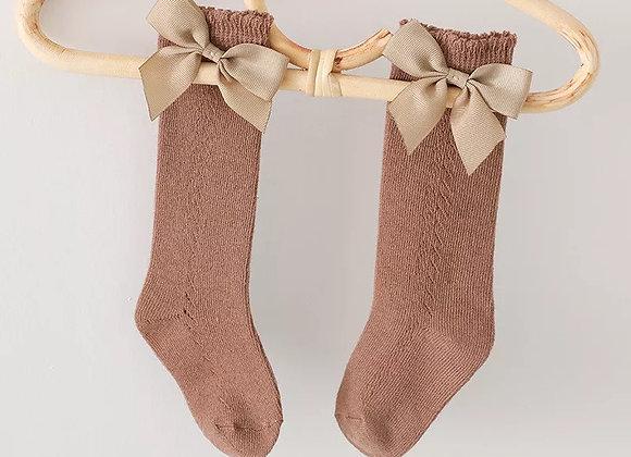 Knee high bow sock