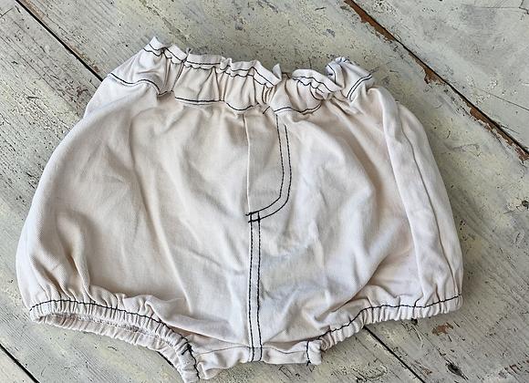 Beige denim shorts (sample sale)