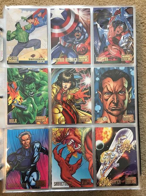 Set de tarjetas coleccionables Marvel vs DC set básico