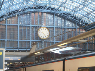 Off to  Bruxelles on the Eurostar to ISF Waterloo!