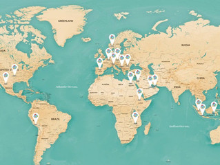 Over 30 countries visited since 2014!