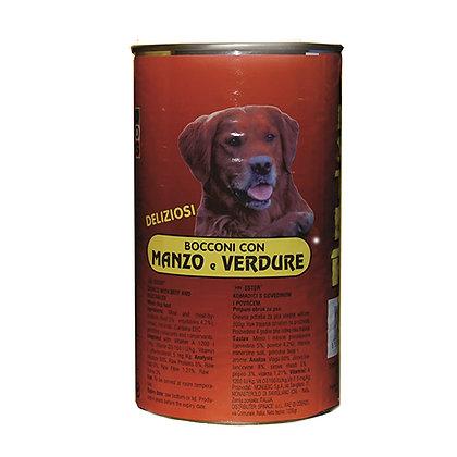 bocconcini di manzo e verdure per cani