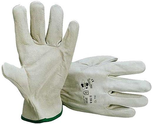 guanti da lavoro in pelle con rinforzo