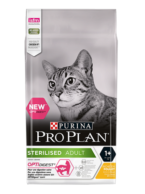 PURINA® PRO PLAN® STERILISED ADULT 1+ RICCO IN POLLO 400g