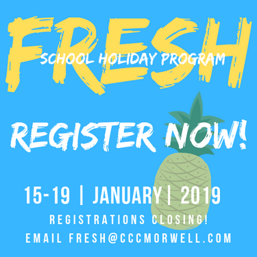 Fresh school holiday program for kids. Search for FRESH holiday fun on Facebook.