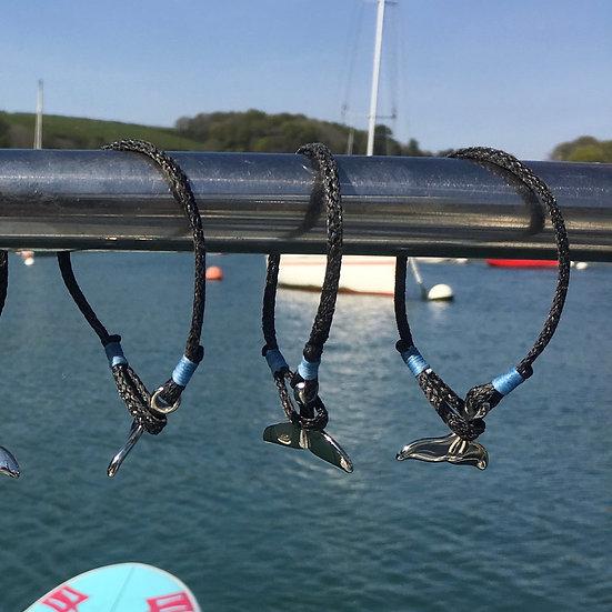 Lobster pot net -tail bracelet