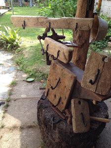 Treasure hooks on driftwood