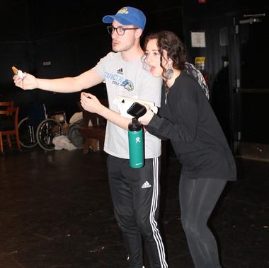 Shoshi Greenberg and Ari Hiller goofing around