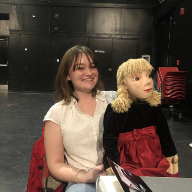 Claire Edwards and her puppet