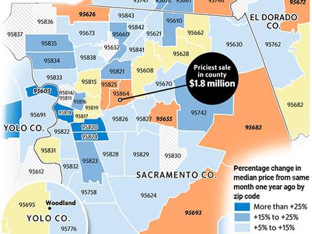 Sacramento home prices still trending