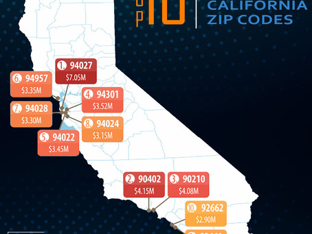 California, Bay Area Dominate List Of Most Expensive U.S. Zip Codes