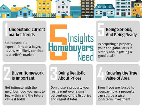 Five insights every homebuyer needs