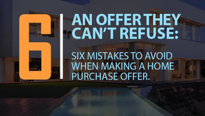 Mistakes to avoid when making an offer
