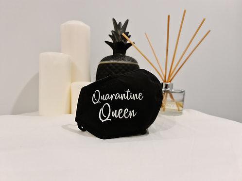 Quarantine Queen - Black Reusable Face Masks