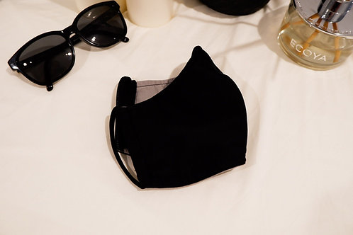 Black Re-usable Face mask