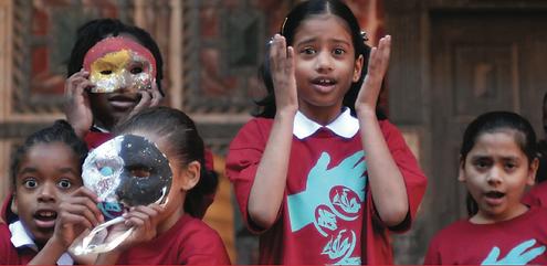 London Storyteller: Jo Directing Children at Shakespeare's Globe