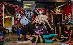 Contact Impro Dancers in aid of Amnesty International
