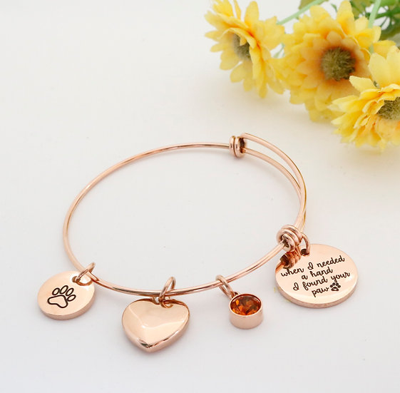 I Found a Paw bracelet in Rose Gold