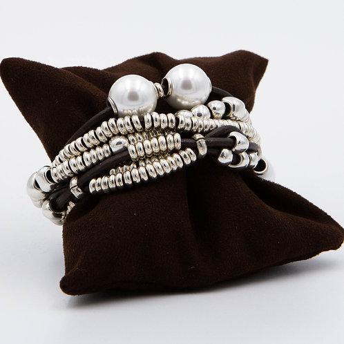 Bracciale multi filo con perle