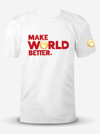 """Positive 3K Classic T-Shirt - """"Make World Better"""""""