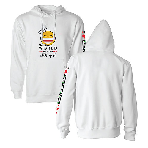 "Positive 3K Designer Hoodie - ""Make World Better"""