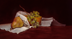 Yellow Bowl and Pear