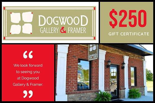 $250 Dogwood Gallery & Framer Gift Certificate
