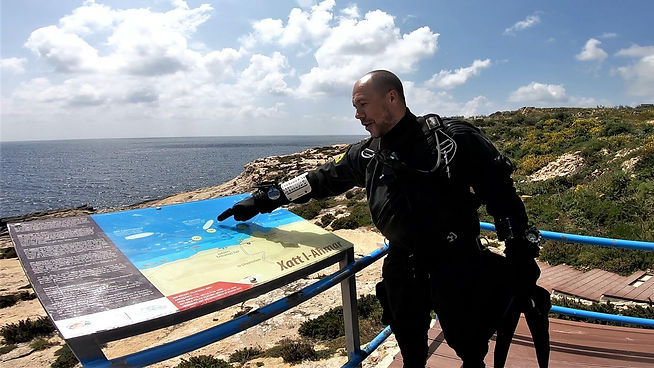 Diver Looking at Map