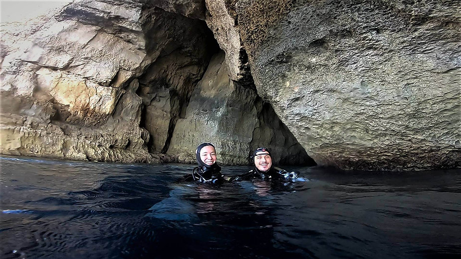 Happy Divers at the Inland Sea, Gozo
