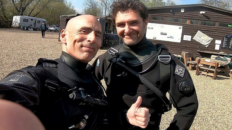 Sidemount Divers on a UK Training Day