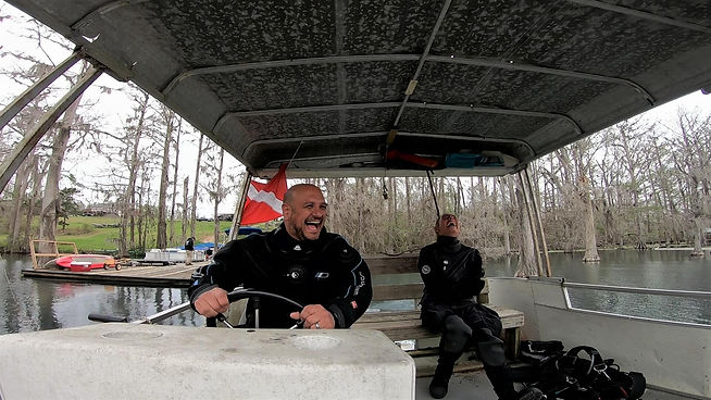 Cave Adventurers Boat on the Millpond