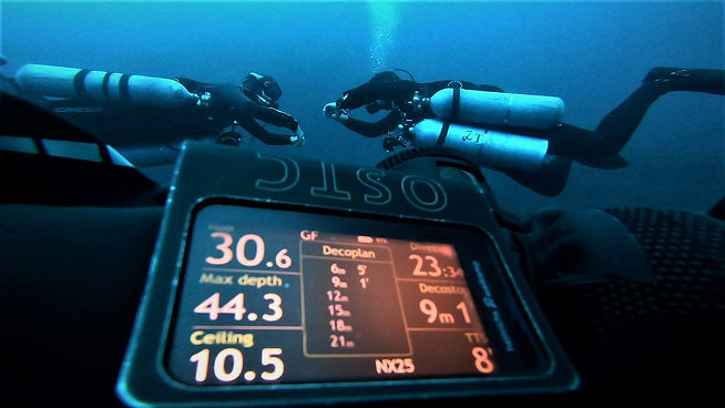 Technical Divers Making a Deep Stop