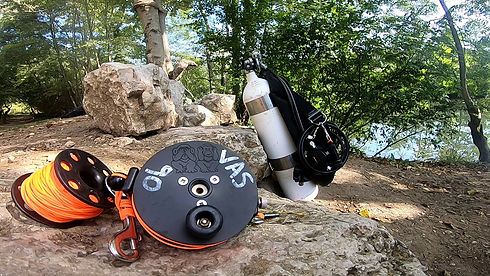 Personal Cave reel and equipment