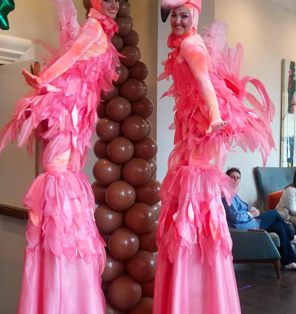 Nothing represents Florida like these lovely ladies. Our Flamingo stilts are the perfect Florida photo op!