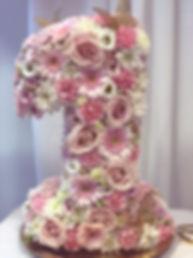 Blomstersiffra 1 pastell rosor germini n