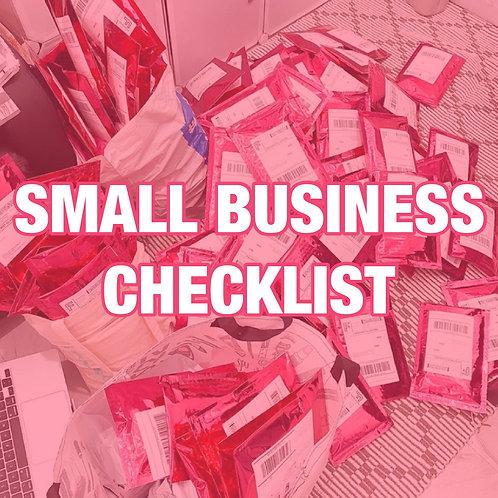 Small Business Checklist