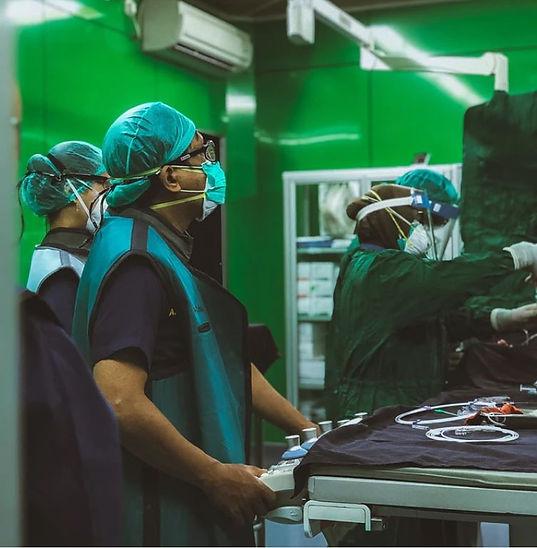 Green hospital surgery room