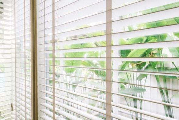Light through window blinds