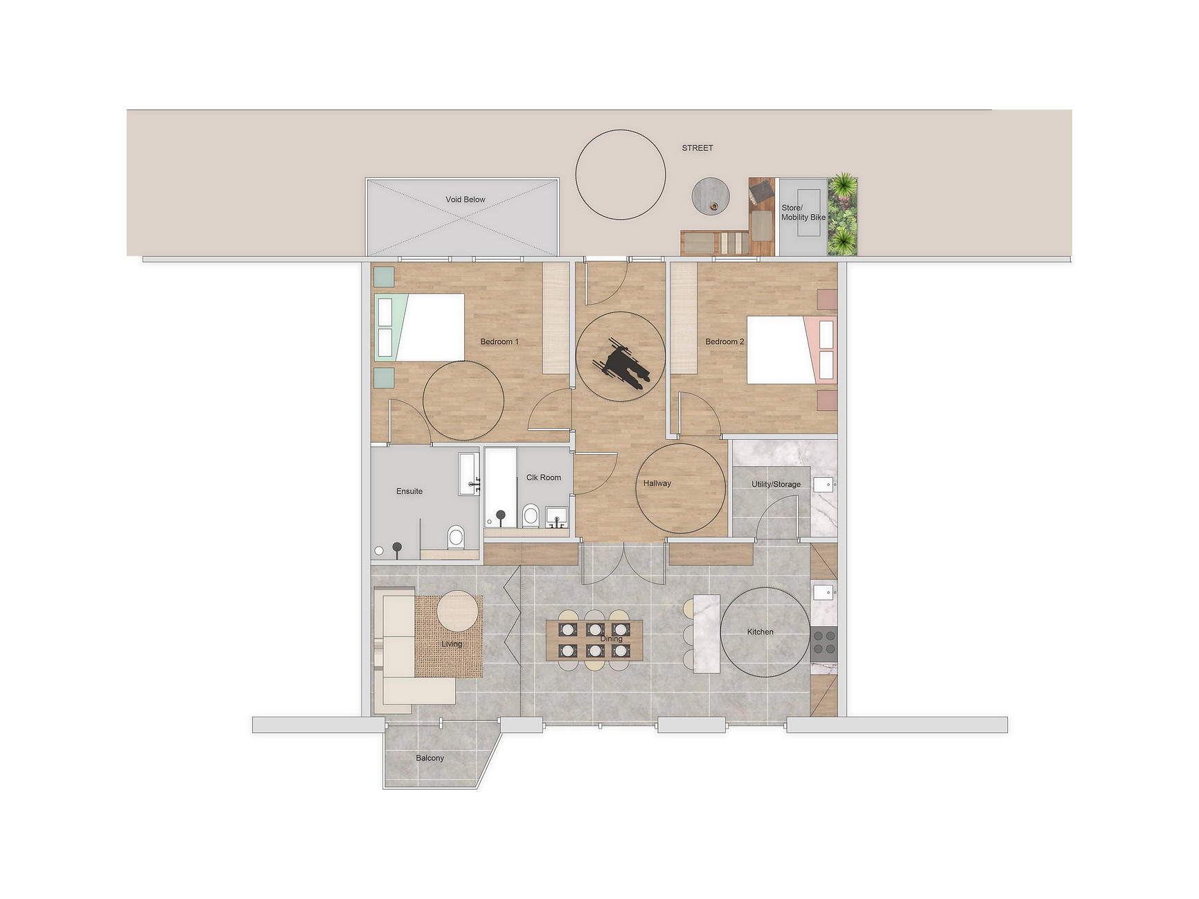 Three Bedroom Apartment with capability