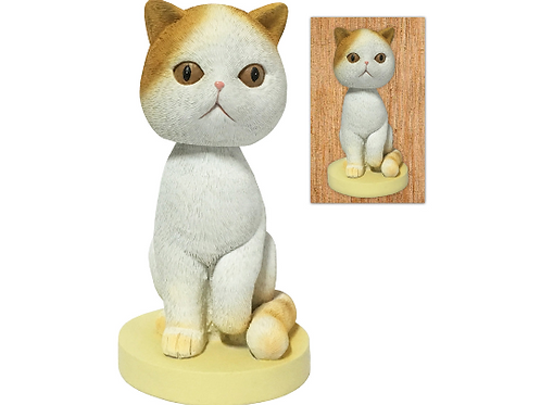 Adorable Shorthair Cat Collectible Bobblehead Figure