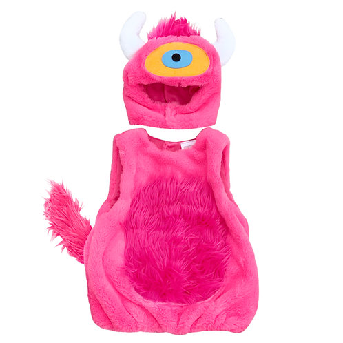Pink Monster With Plush Tail Costume