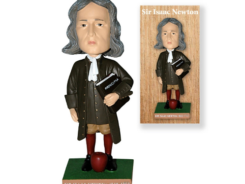 "Isaac Newton Science Principe 6.5"" Bobble Head in Collector's Box"