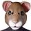 Thumbnail: Latex Adult Hamster Costume Mask