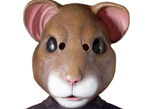 Latex Adult Hamster Costume Mask