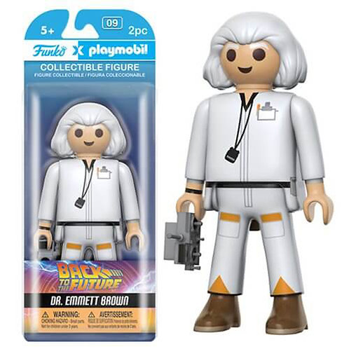Funko Playmobil: Back to the Future - Doc Brown 6-Inch Action Figure