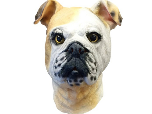 English Bulldog Costume Face Mask