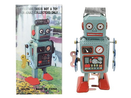 Retro Classic Wind-up Robot (Japan circa 1940s)